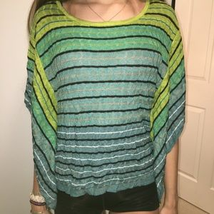 LOFT SWEATER PONCHO STYLE TOP